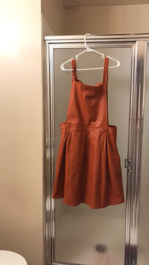 Faux Leather Overall dress for Sale in Manassas, VA