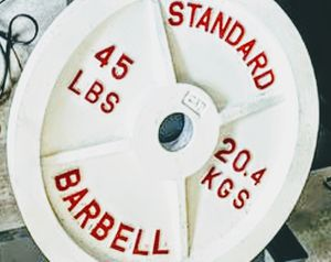 Standard 45lb Barbell Weight (Custom Painted) for Sale in San Antonio, TX