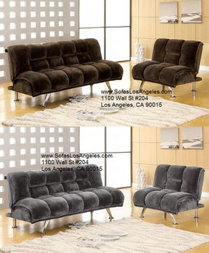 Yes We Finance 😁 Elephant Microfiber Comfy Couch Sofa Futon & Chair Set Sofas for Sale in Inglewood, CA