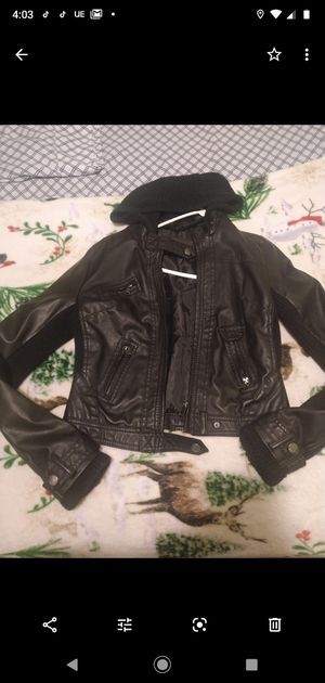 Leather jacket ci Sono by cavalini size M for Sale in Milwaukee, WI