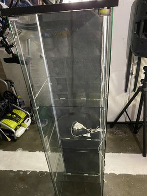 Ikea Detolf Display Cabinet with Led Lights for Sale in Compton, CA