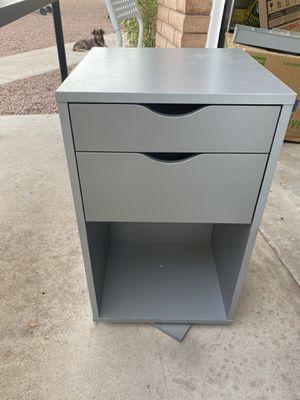 Swivel office craft organizer storage cabinet - gray for Sale in Tempe, AZ