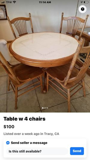 Kitchen table with 4 chairs for Sale in Manteca, CA