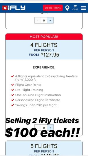 iFly Tickets for Sale in Silver Spring, MD
