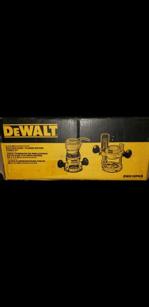 New DeWalt 12 Amp 2.25 HP Fixed and Plunge Base Corded Router Kit -Pick up only- for Sale in Phoenix, AZ