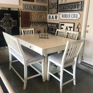 Brand New 6 Piece Counter Height Dining Set (Table: 60x42x36) 🙏🏼 Please Read Description 👀 for Sale in North Las Vegas, NV