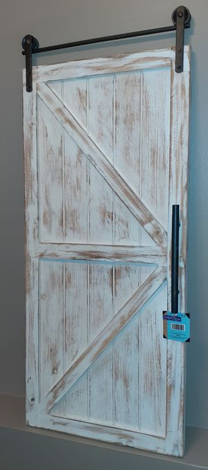Hobby lobby barn door wall decor NEW for Sale in Round Lake, IL