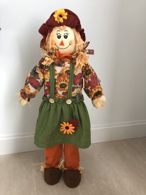 """Fall Decor 🍂 32"""" Girl Scarecrow for Sale in West Palm Beach, FL"""