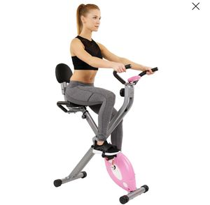 Sunny Health & Fitness Magnetic Folding Recumbent Bike Exercise Bike, 220lb Capacity - SF-RB1117 for Sale in Stockbridge, GA