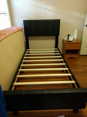 Brand New Twin Size Leather Platform Bed Frame (4 Color Options) for Sale in Silver Spring, MD