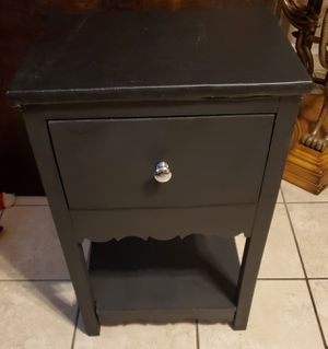 Small Black 1-Drawer Nightstand for Sale in Phoenix, AZ