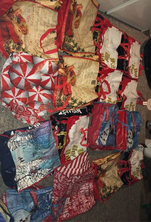 16 Vintage Christmas Gift Bags; Seasonal from Marshall's and TJ MAXX, CHRISTMAS PRESENT BAGS, GIFT BAGS, GROCERY BAGS for Sale in Plainfield, IL