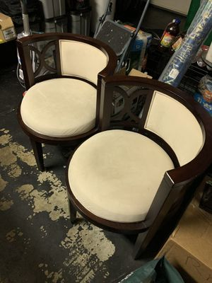 2 High End Solid Wood Microfiber Seats Seat Color Ivory for Sale in Charlotte, NC
