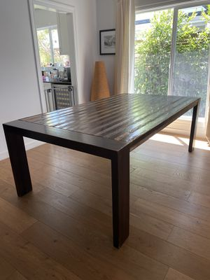 Beautiful dining table. Distressed design with polished walnut finish. for Sale in Marina del Rey, CA