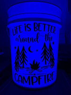 Camping buckets with submersible LED light for Sale in Rancho Cucamonga, CA