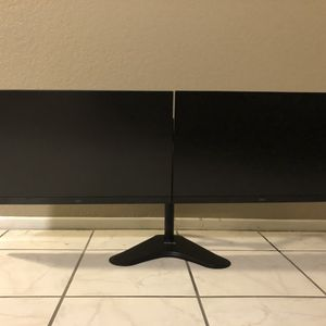 Dual Dell Gaming LED Lit Monitors - 27 in FHD 1920 x 1080 Resolution 144HZ w/ Vivo Stand for Sale in Chino Hills, CA