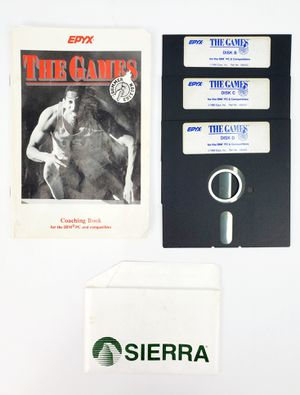 "Vintage Epyx The Games - 5.25"" Floppy Disks, Manual etc. (1988) - IBM PC Tandy for Sale in Trenton, NJ"