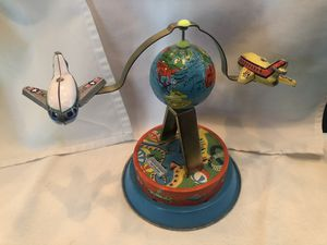 Vintage Wind up Tin Toy with planes for Sale in Denver, CO