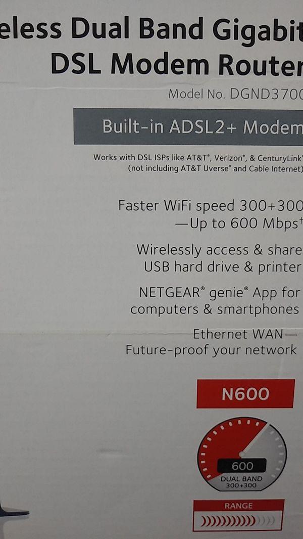 N600 wireless DSL Modem router