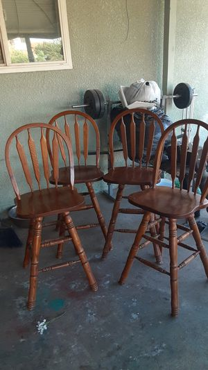 4 wooden stools for Sale in Exeter, CA