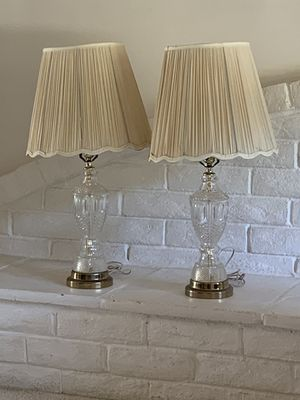 Set of 2 vintage crystal lamps for Sale in San Diego, CA