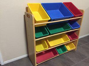 Toy Bin Organizer Storage Box For Kids Toys Playroom Bedroom for Sale in Hemet, CA
