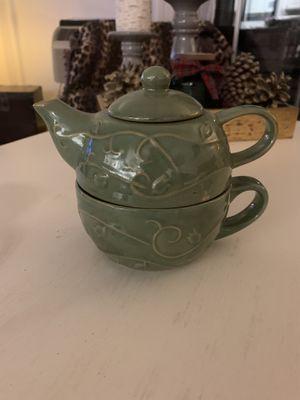 Pier 1 stackable tea pot and mug for Sale in Escondido, CA