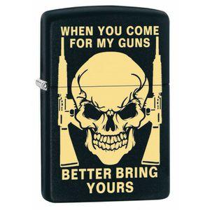 Bring Your Guns Skull Zippo Lighter for Sale in Daytona Beach, FL