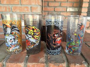 ED HARDY COCKTAIL GLASSES for Sale in Mesa, AZ