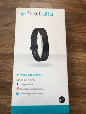 Fitbit alta small black opened box with extra leather band for Sale in Corning, OH