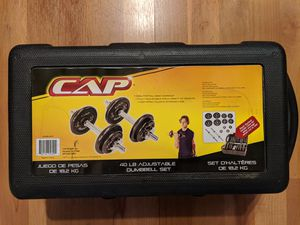 Adjustable Dumbbell Sets with Carrying Case for Sale in Bellevue, WA