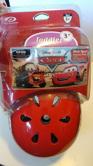 Cars toddler helmet, elbow, knee pad set for Sale in O'Fallon, MO