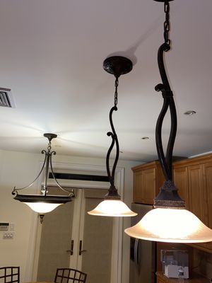 3 piece matching kitchen ceiling light fixtures for Sale in Brooklyn, NY