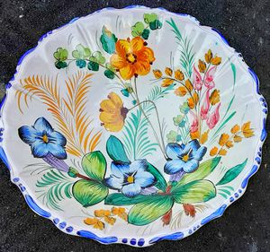 """Huge mid century modern signed Italian Art Pottery 10"""" bowl MADE IN ITALY for Sale in Saginaw, MI"""