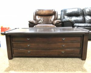 Pottery Barn coffee table with Seesaw Drawers for Sale in Tracy, CA