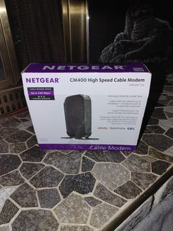 Netgear CM400 High Speed Cable Modem for Sale in Tacoma,  WA