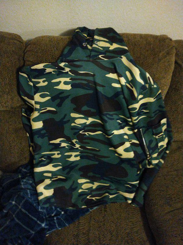 2 long sleeve camoflauge shirts