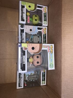 Rick and morty funko collectible pops bundle for Sale in Los Angeles, CA