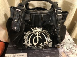 Black Velour Juicy Couture hobo bag - like new for Sale in Pittsburgh, PA