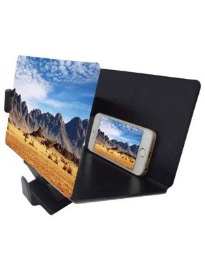 Screen Magnifier 3D Smart Mobile Phone Movies Amplifier with PU Leather Foldable Holder Stand for Any Smartphone, iPhone 4/5/6/7/7S Plus, Samsung Gal for Sale in Barre, VT