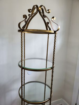 Antique gold color glass shelves for Sale in Moreno Valley, CA