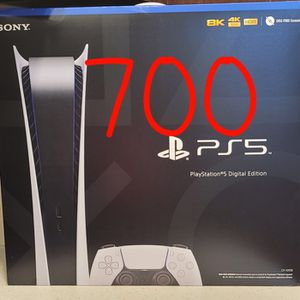 PlayStation 5 Digital Edition Ps5 Brand New Sealed for Sale in Long Beach, CA