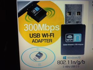 USB Wifi Adapter Dongle 300Mbps Wireless LAN for Sale in Lake Charles, LA