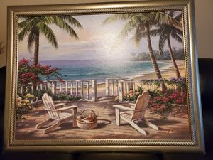 Tropical Beach Painting for Sale in Tacoma, WA