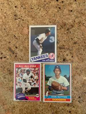 Reggie Jackson, Don Sutton, Don Mattingly Baseball cards for Sale in Claremont, CA