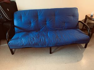 Full size futon (sofa cum bed) barely used in good condition sell fast jersey city Journal Square area moving sell for Sale in Jersey City, NJ