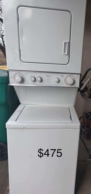 Certified used appliances! Stackable washer and dryer, Stainless steel side-by-side refrigerators for Sale in Denver, CO