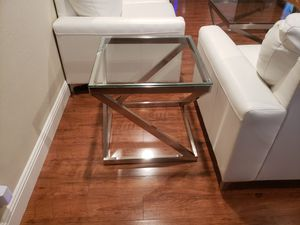 White leather couches and tables. Sold as set. Paid 1400.00 2 yrs ago at Ashley's. Never used. Selling $800.00 for set for Sale in Concord, CA