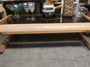 3 contemporary wood and glass end tables and coffee table for Sale in Pinellas Park, FL