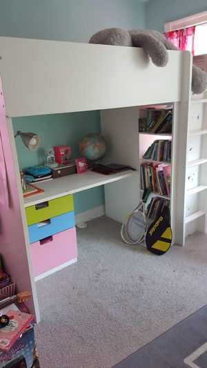 IKEA Loft Bed/Desk & Wardrobe for Sale in Forest Heights, MD